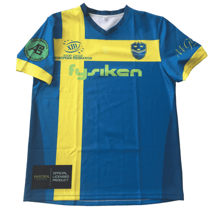 The Sweden Rugby League team shirt.
